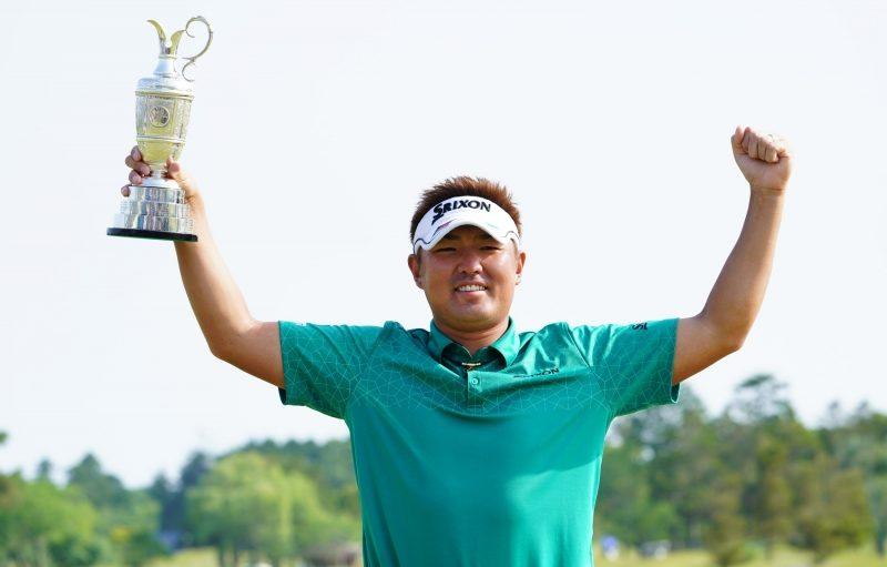 秋吉翔太はツアー初優勝 全米に続き全英オープンのチケットも獲得した|(撮影:鈴木祥)
